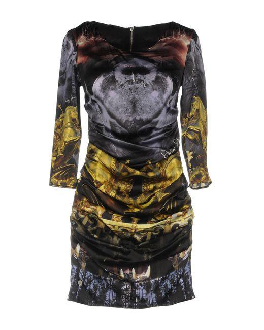 Philipp Plein Minivestido de mujer de color negro