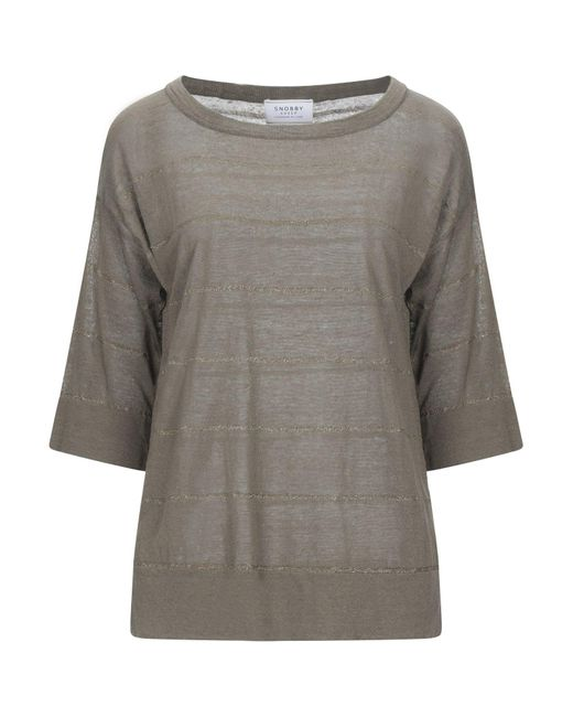 Pullover di Snobby Sheep in Gray