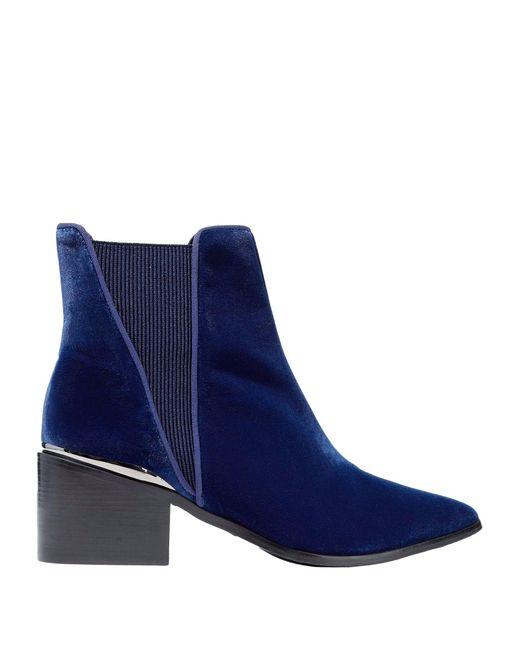 Schutz Botines de caña alta de mujer de color azul