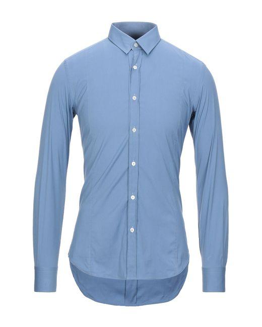 Xacus Camicia da uomo di colore blu