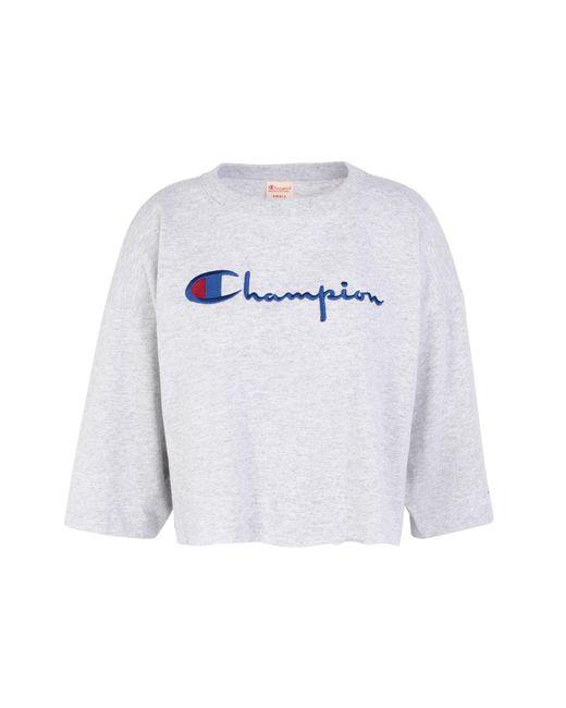 Champion T-shirt da donna di colore grigio