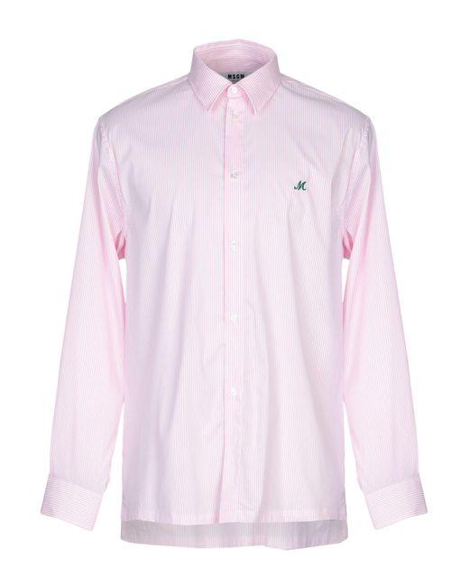 MSGM Camicia da uomo di colore rosa