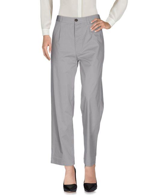 Erika Cavallini Semi Couture - Gray Casual Trouser - Lyst
