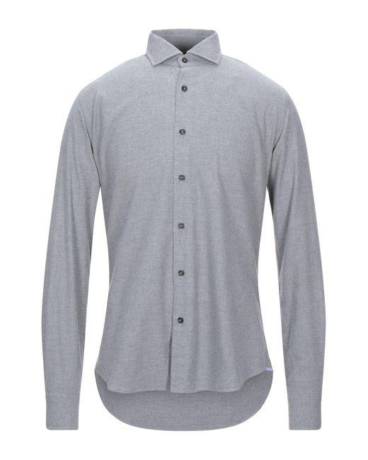 Xacus Camicia da uomo di colore grigio