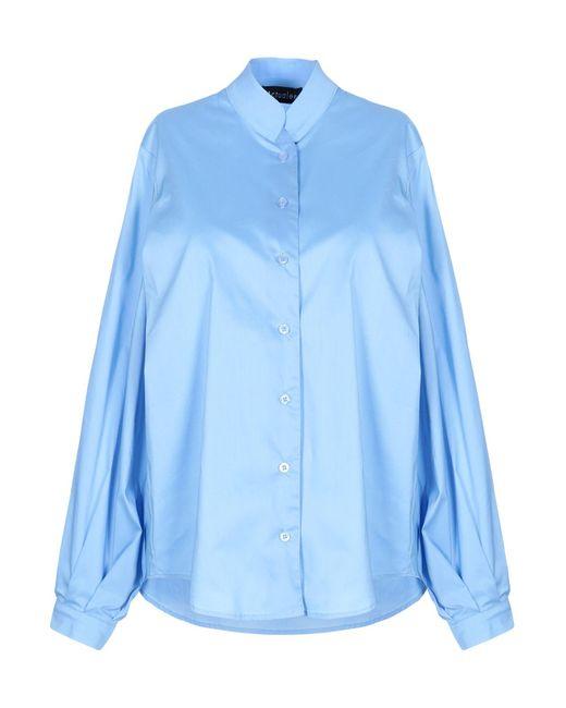 ACTUALEE Camicia da donna di colore blu