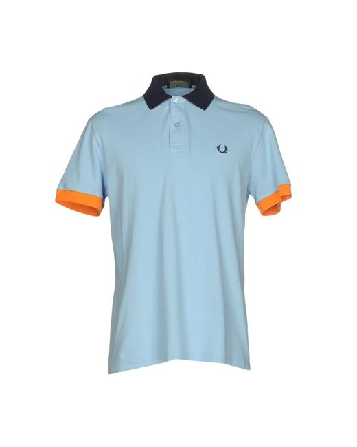 Fred Perry - Blue Polo Shirts for Men - Lyst