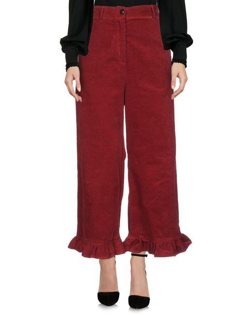 Suoli Red Casual Trouser