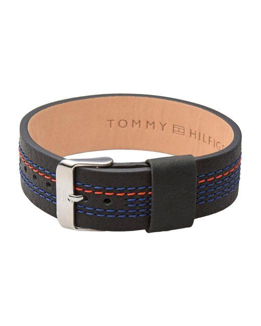 Tommy Hilfiger - Black Bracelets for Men - Lyst