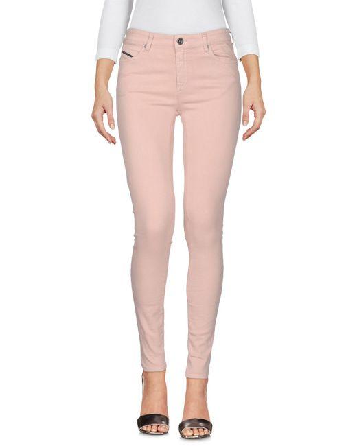 Diesel Black Gold Pink Denim Pants