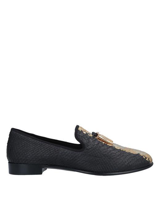 Giuseppe Zanotti Black Loafer for men