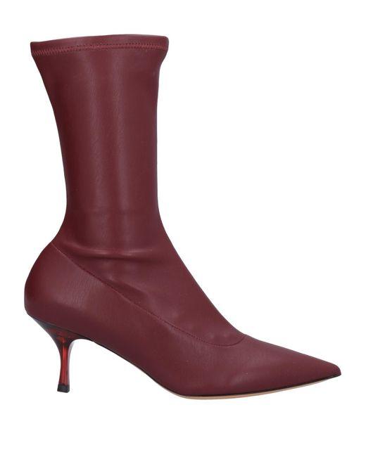 Botines de caña alta Rochas de color Red