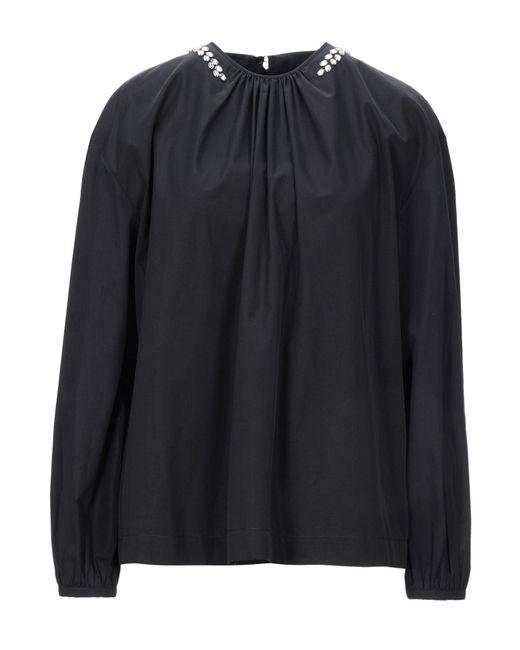 Rochas Blusa de mujer de color negro XzTaD