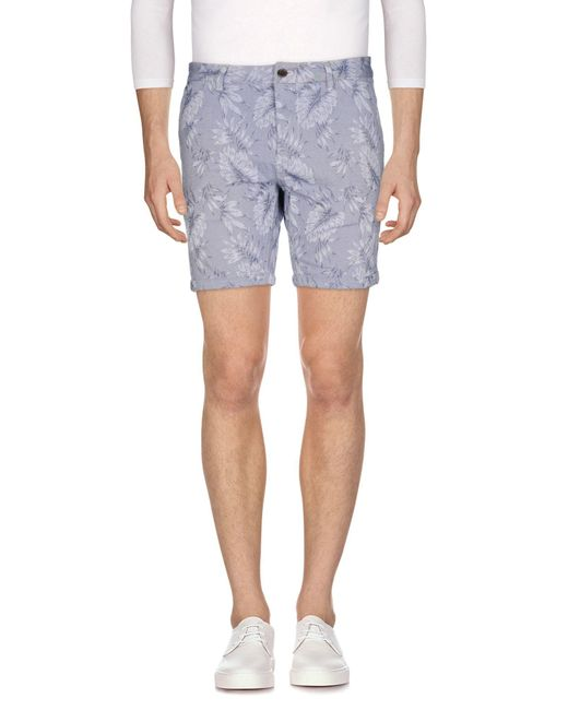 Scotch & Soda Blue Denim Shorts for men