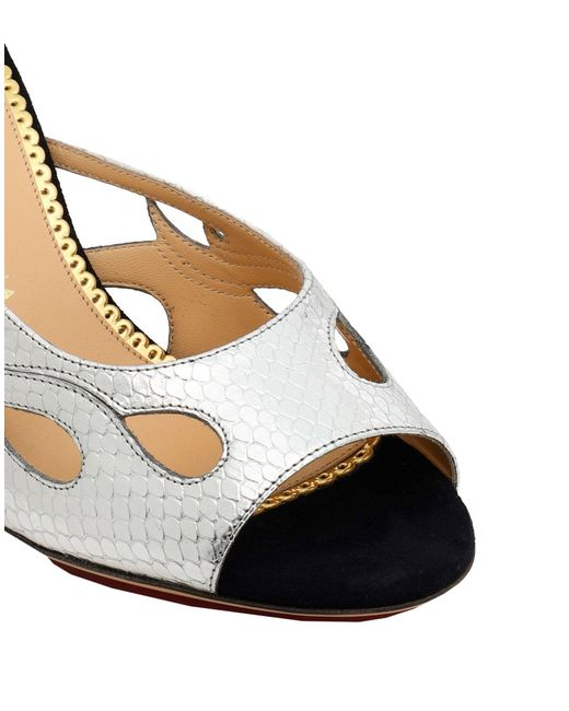 Sandales Charlotte Olympia en coloris Metallic