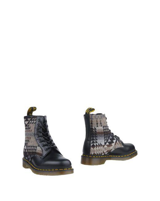 Dr. Martens Gray Ankle Boots for men