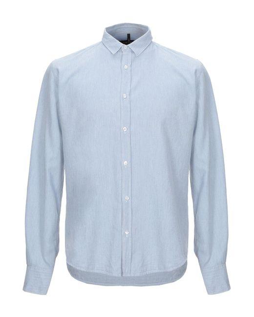 26.7 Twentysixseven Camicia jeans da uomo di colore blu