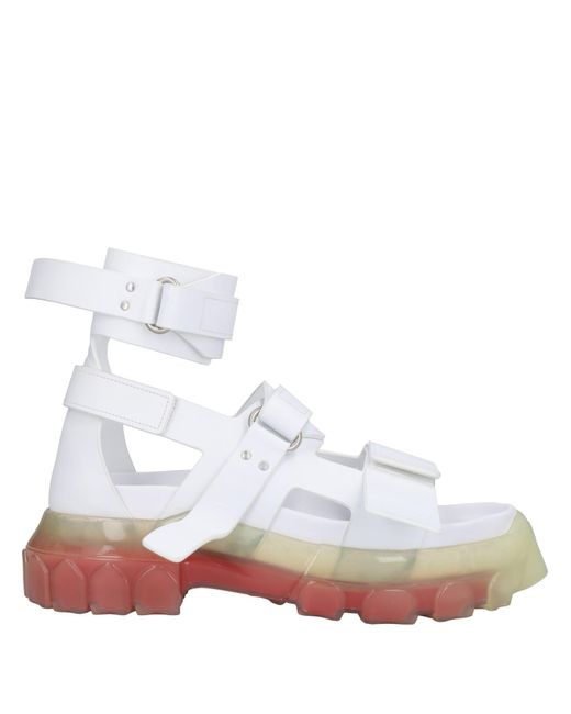Rick Owens White Sandals