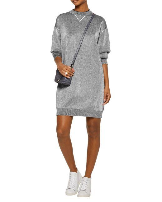 M Missoni Gray Kurzes Kleid