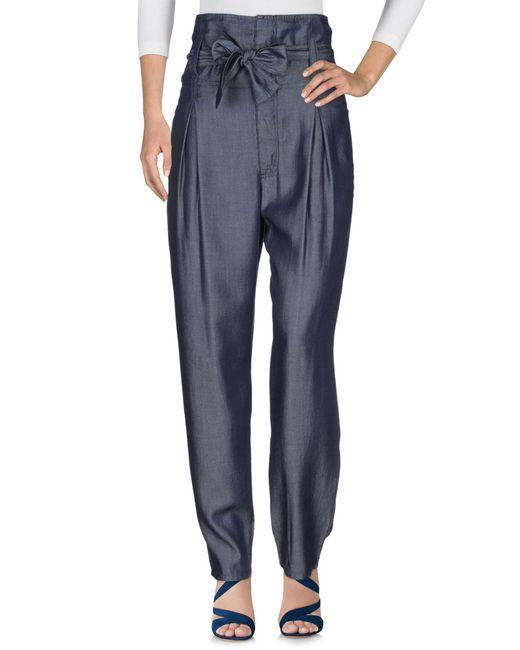 Versace Jeans Pantalon en jean femme de coloris bleu