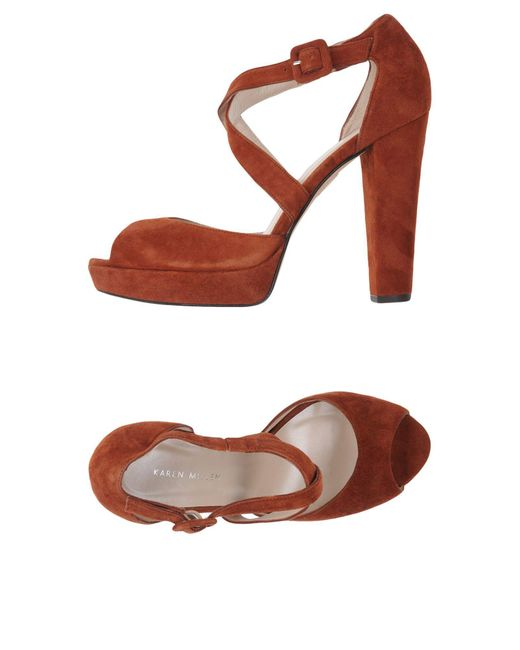 Karen Millen - Brown Sandals - Lyst