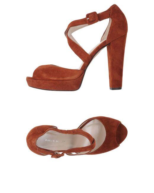 Karen Millen | Brown Sandals | Lyst