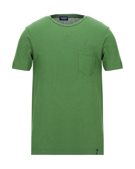 T-shirt di Drumohr in Green da Uomo
