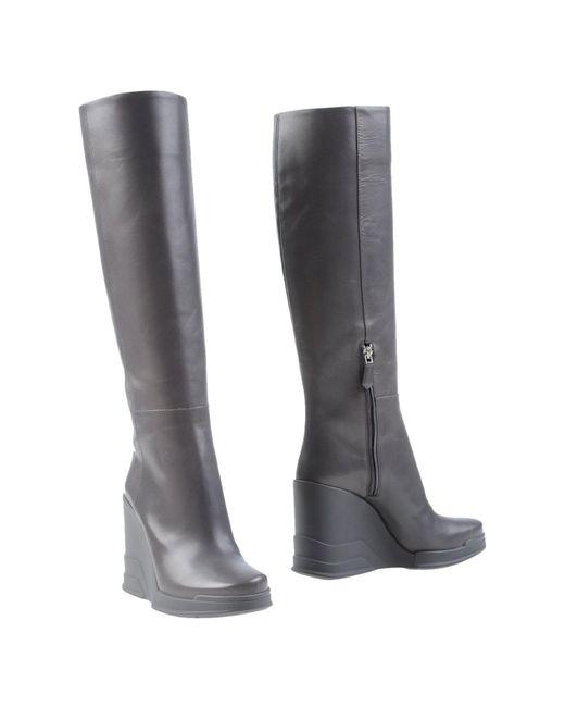Prada - Gray Boots - Lyst