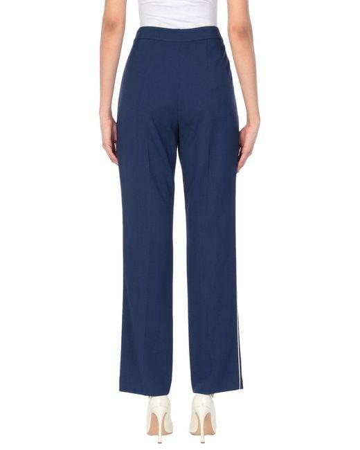 Dries Van Noten Pantalon femme de coloris bleu