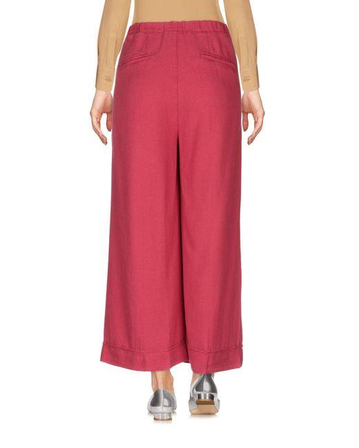 Pantalones piratas European Culture de color Red