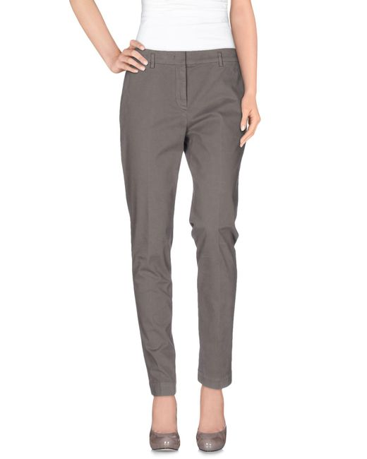 Incotex - Gray Casual Pants - Lyst