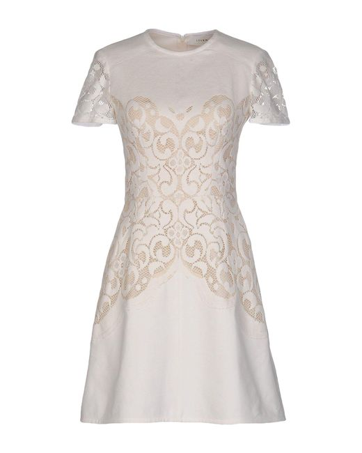 Lover | Natural Short Dress | Lyst
