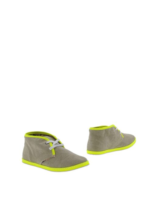 Lecrown Green Ankle Boots