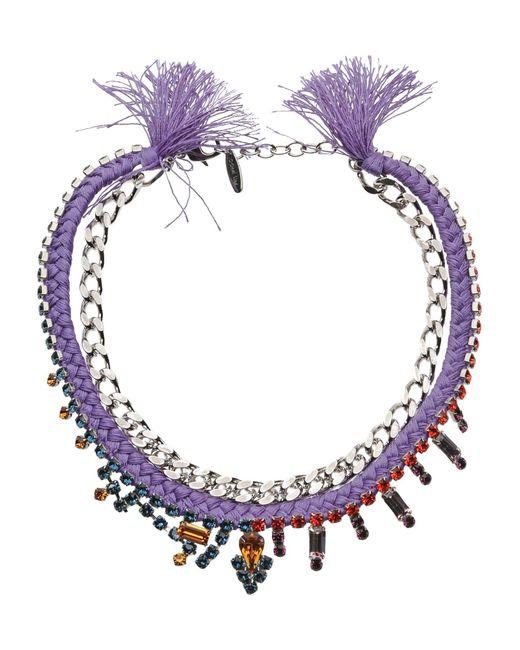 Joomi Lim - Purple Necklace - Lyst