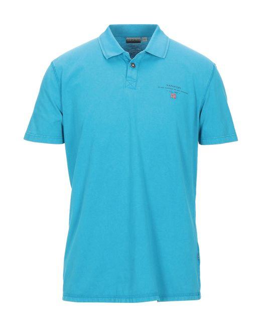 Napapijri Blue Polo Shirt for men
