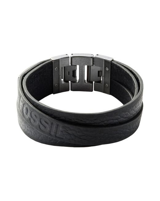 Fossil - Black Bracelets for Men - Lyst