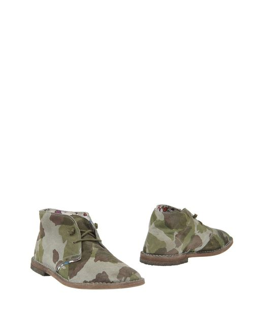 Lecrown - Green Ankle Boots for Men - Lyst