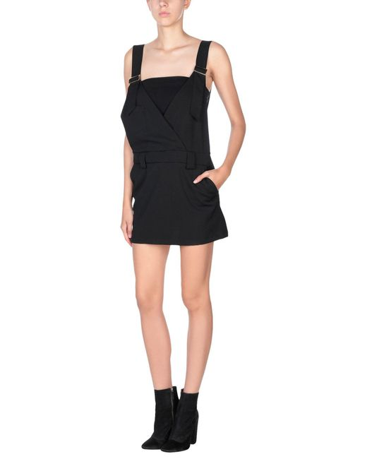 Annie P - Black Overall Skirt - Lyst