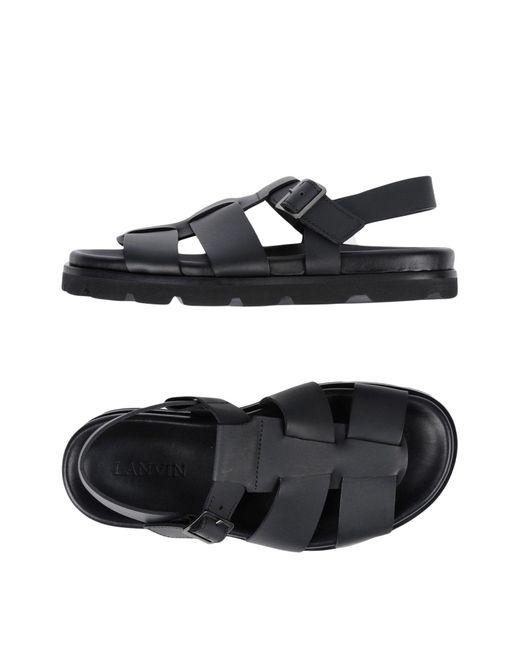 Lanvin - Black Sandals - Lyst