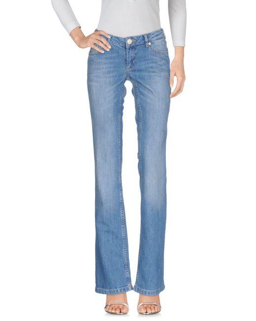Silvian Heach - Blue Denim Trousers - Lyst