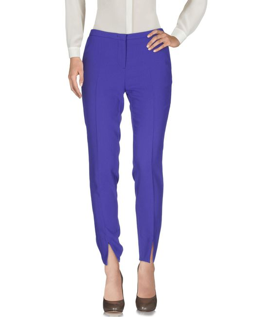 Love Moschino - Purple Casual Pants - Lyst