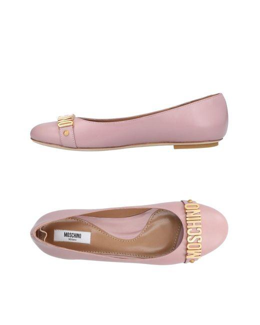 Moschino - Pink Ballet Flats - Lyst