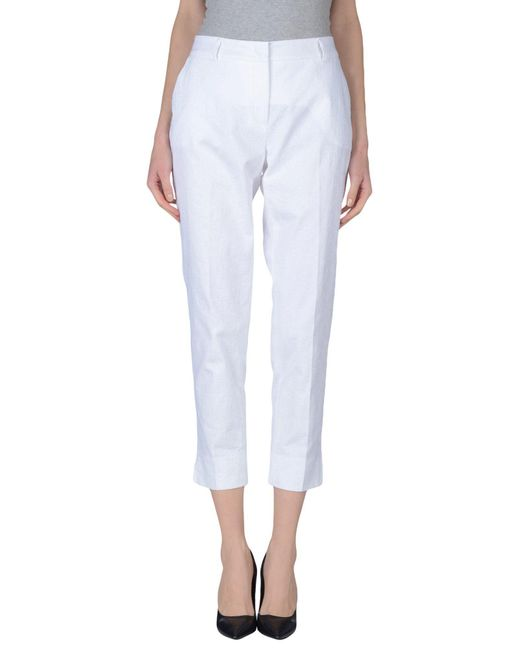 Peserico - White Casual Pants - Lyst