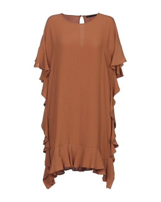 Robe courte Annarita N. en coloris Brown