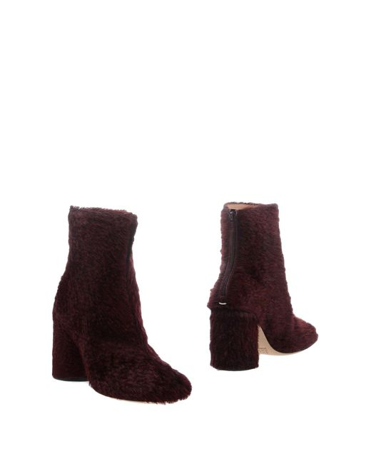 Maison Margiela Red Ankle Boots