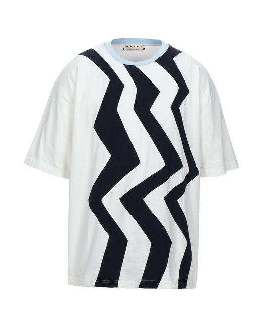 Marni T-shirt da uomo di colore bianco