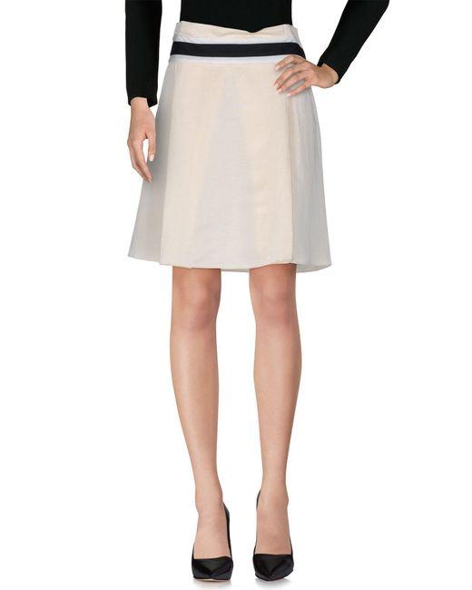 Balenciaga - White Knee Length Skirt - Lyst