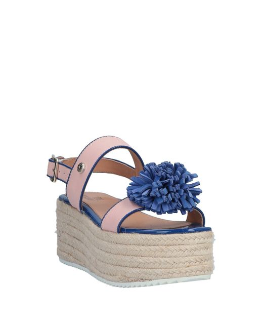 0813a41574551 Love Moschino Sandals in Blue - Lyst