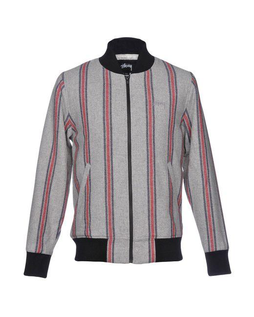 Stussy Gray Jacket for men