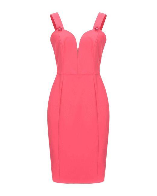 Robe aux genoux Elisabetta Franchi en coloris Pink