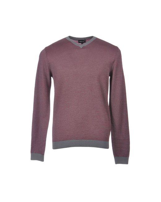 Giorgio Armani Purple Sweater for men